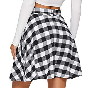 belted a line flared skirts