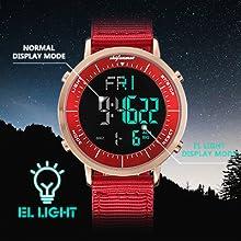 digital watch for unisex