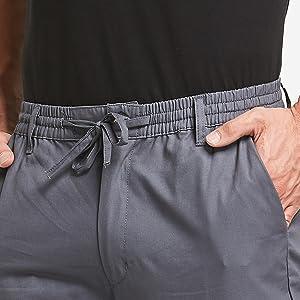 Elasticated waist and Drawstring
