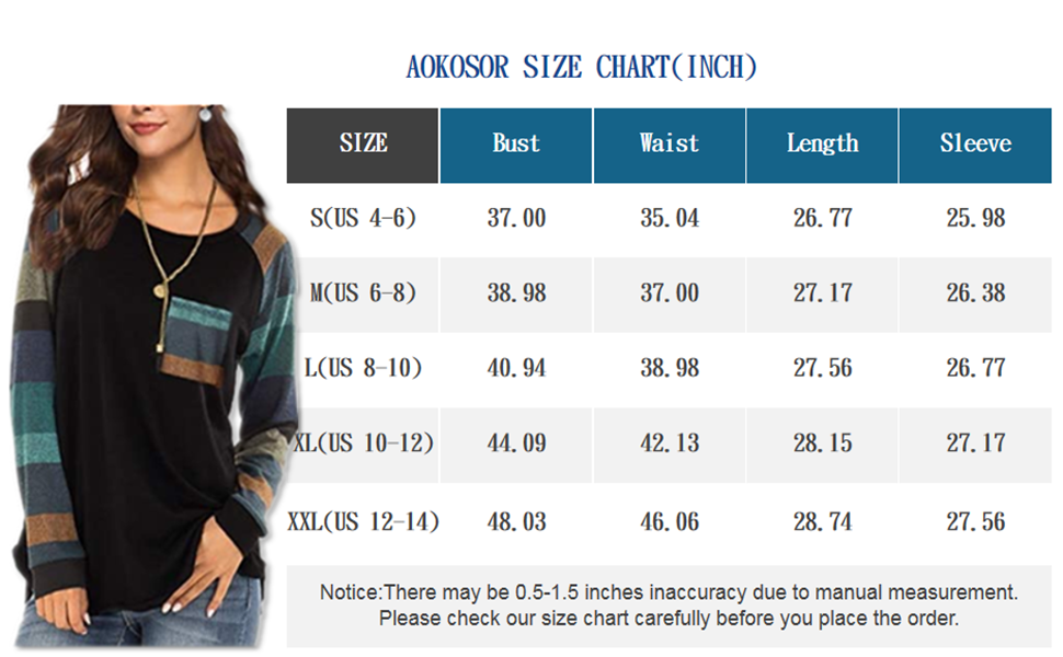 Aokosor size chart