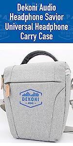 dekoni audio universal headphone carrying case heather grey