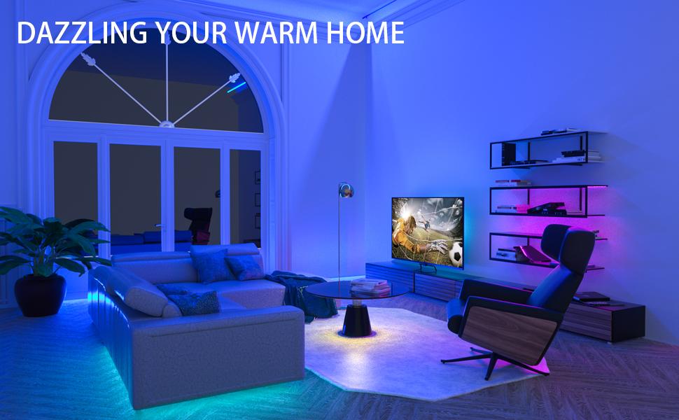 led lights for bedroom 100 ft