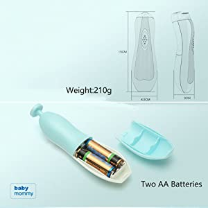 Battery Operated (Two AA Batteries)