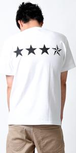 (リアルコンテンツ)REAL CONTENTS tシャツ メンズ 大きいサイズ おしゃれ 半袖 白黒 星 柄 ロゴ ストリート 柄 プリント rcst1251-18