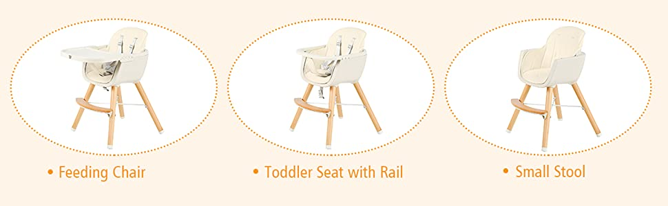 feeding chair, toddler seat with rail, small stool