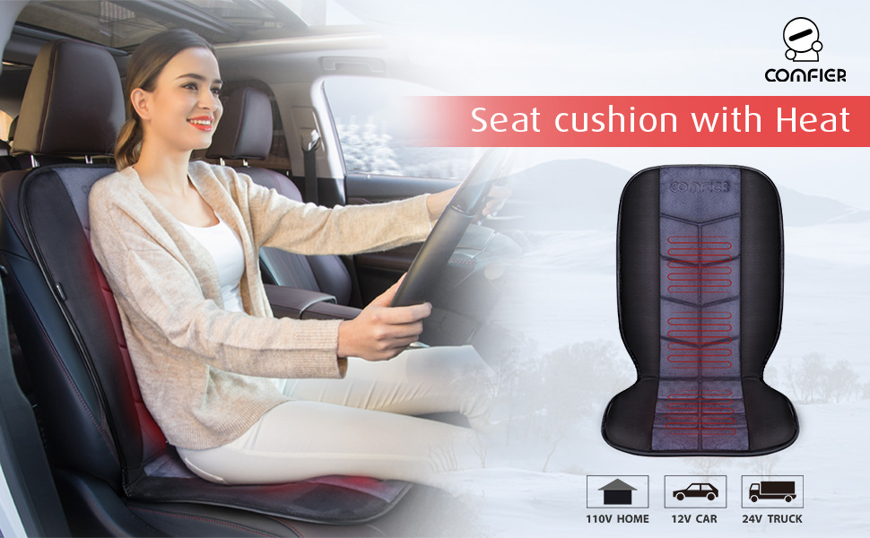 Carbon Fiber far Infrared 12V Universal Heated seat for Toyota No Pole 5 Gear Double Wheel Square Switch Seat Heating Pad Car Heated Seats Cushion Cover Office Warmer Chair Cover WATERCARBON WATERCARBON 10-99