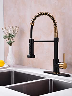 Pirooso Kitchen Faucets Commercial Solid Brass