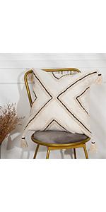 knit sham modern bedding ivory woven travel linen floor rustic tufted cotton beach rectangle bolster