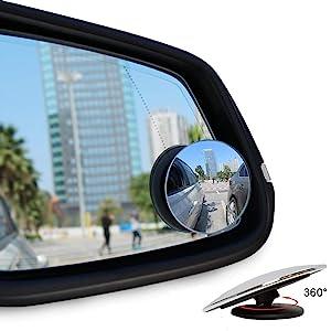 Ankier Toter Winkel Spiegel Runde Form Weitwinkel Autospiegel Zum Aufkleben Auf Den Seitenspiegel 2 Stück Auto