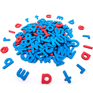 Colors include red vowels and blue consonants make it easier for children to
