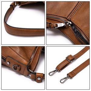 hobo bag dunkelbraun handtasche antik braun mittelgroß