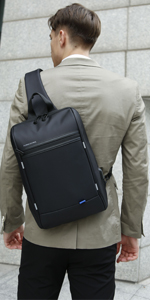 "13.3"" laptop Sling Bag with USB Charging Port"