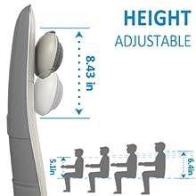 Heigh adjustable back massager