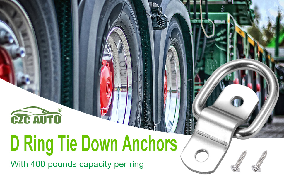 CZC AUTO D ring tie down anchors with 400 pounds capacity per ring