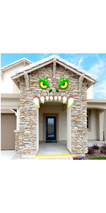 Monster Face Halloween Archway Garage Door Decoration