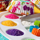bakers sugar, sanding sugar, decorating sugar, natural colored sugar, luster dusts, baking sugar