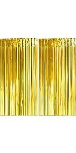 Gold Tinsel Curtain