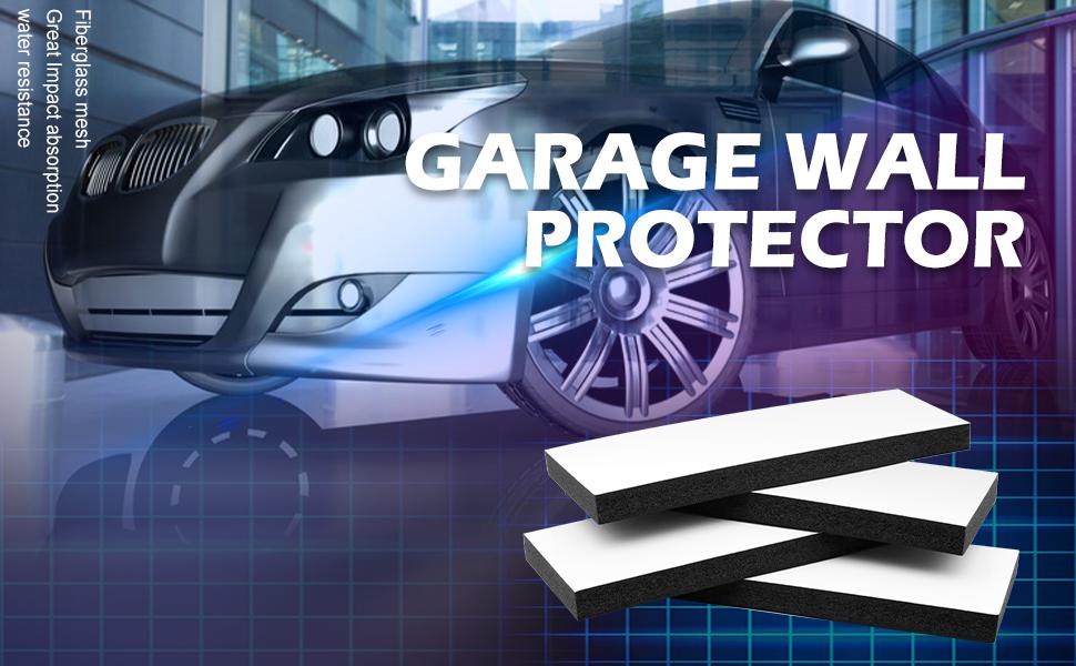 Kxuhivc Garage Wall Protector Car Door Corner Edge Waterproof Bumper Guard Protector High Density 11.8x 3.9 x 0.8 Self Adhesive Foam Pad for Parking Vehicle