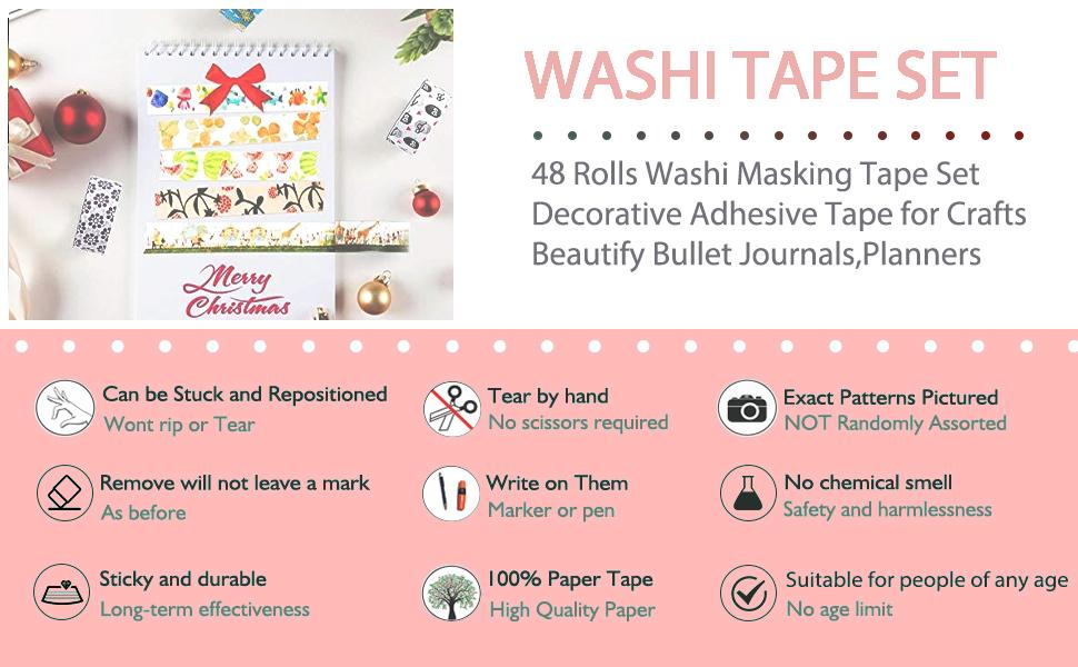 Decorative Washi Masking Tape Set
