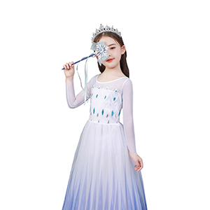 Little Girls Princess Dress Costume for Christmas birthday Halloween Party