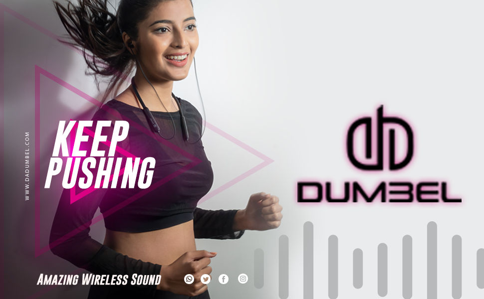 DUMBEL sports earphone bluetooth boat bose cover IPHONE JBL peice running gym excersize workout
