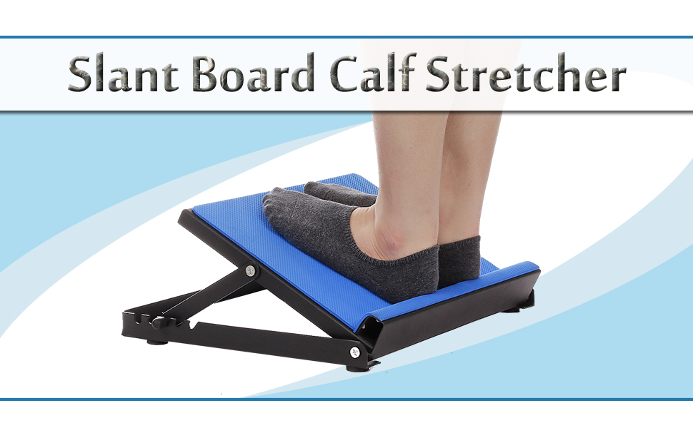 Calf Stretcher Ankle and Foot Incline Board for Stretching Tight Calves or Plantar Fasciitis Adjustable 4 Level Strength Training Equipment Leg Machines MORDEN MS Slant Board 330 lb Capacity