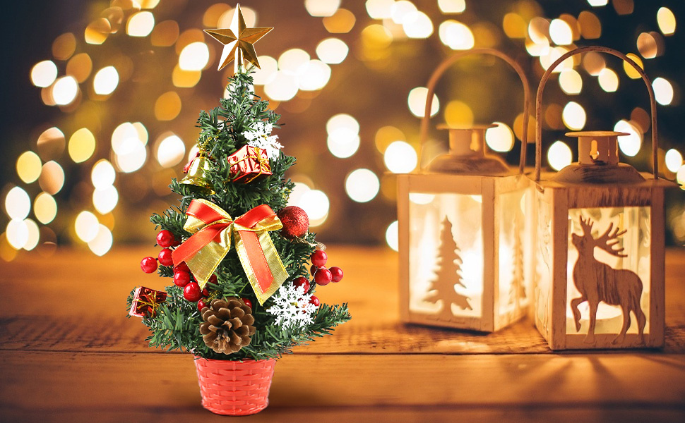 Mini Artificial Tabletop Christmas Tree