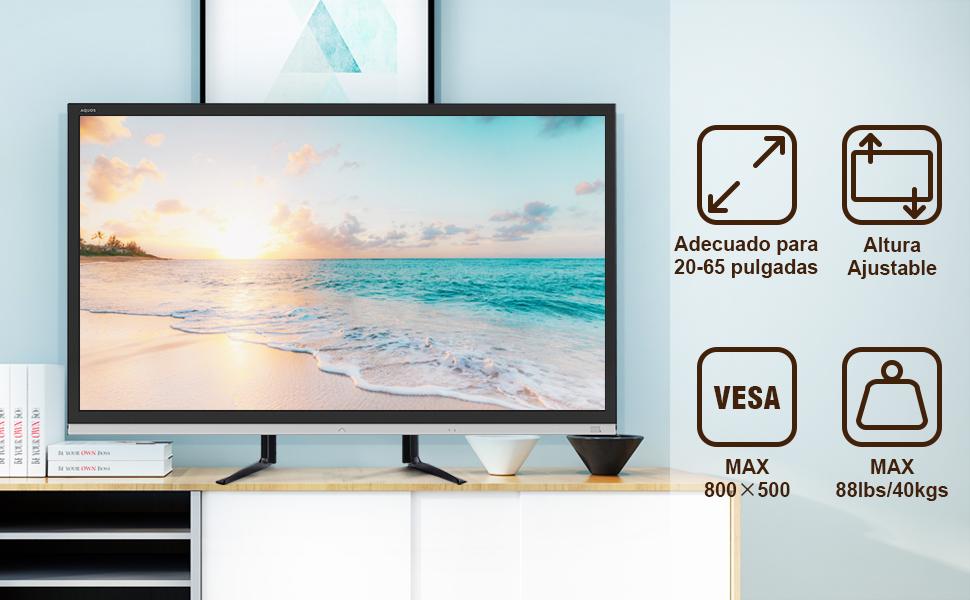 RFIVER Soporte TV Universal de Mesa para Television LCD LED OLED ...