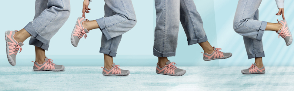 Weweya Women Minimalist Barefoot Running Shoes