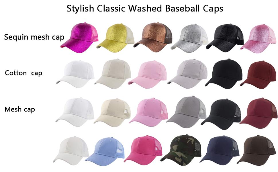 Oubaohaocha Unisex Adult Mens Womens Baseball Cap Half Ponytail Cap Sunshade Summer Cap Solid Color Sports Cap Beach Hat