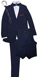navy, blue, suit, skinny, formal, set