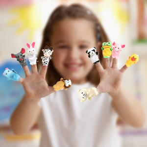 animal finger puppets - set of 10