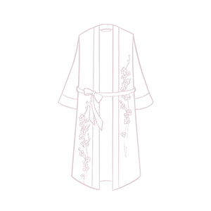 KIM+ONO Women's Crepe Kimono Robes Intricate Details Dressing Gown