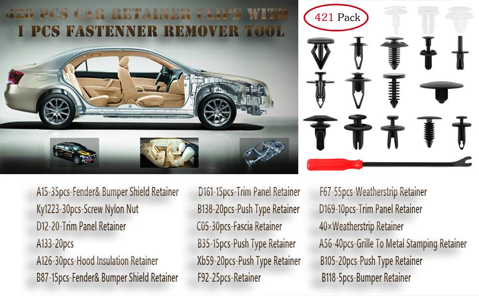 Mercedes-Benz Body Rock Guard /& pare-chocs panel fastener TRIM CLIPS 10Pcs