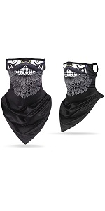 Zonent Face Balaclava Mask Neck Gaiter with Ear Loops Mens Womens