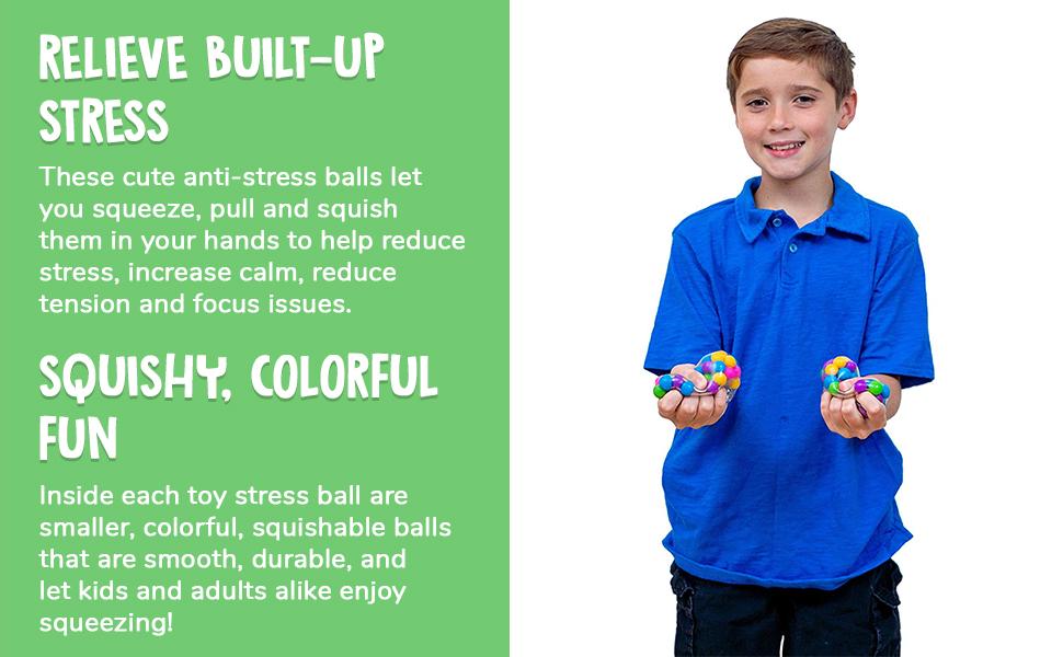 Squish Stress Balls 4 pack