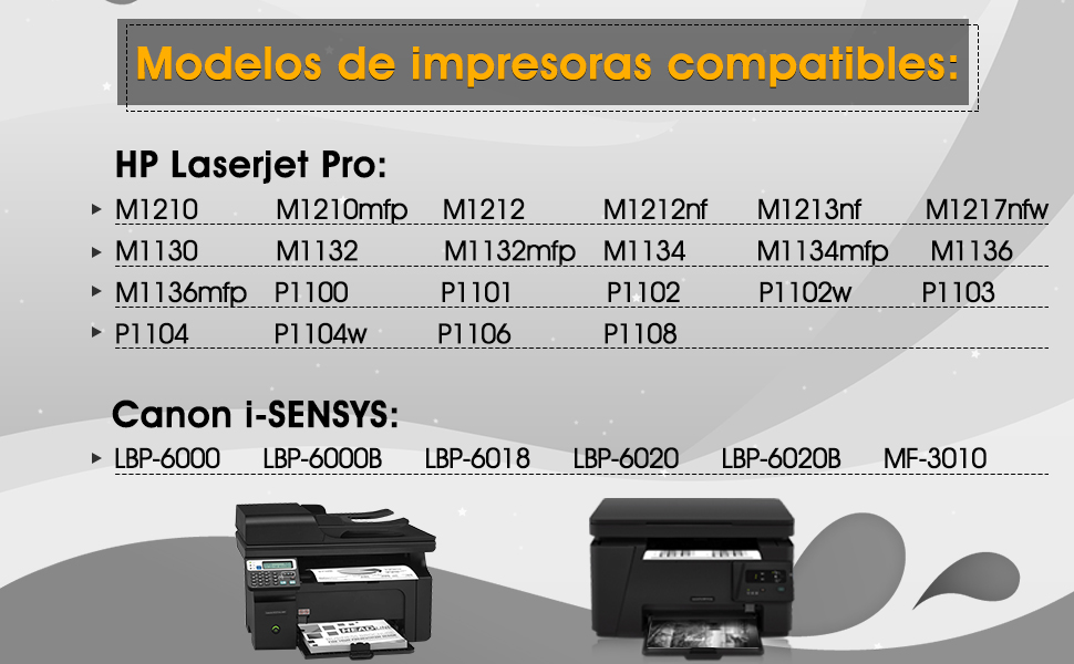 7Magic CE285A 85A Compatible con HP 85A CE285A Cartucho de Tóner ...