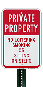 Private Property No Loitering