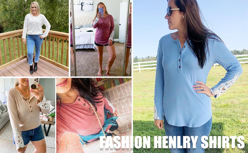 Fashion Henley Shirts
