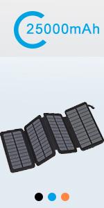 solar charger 25000 orange