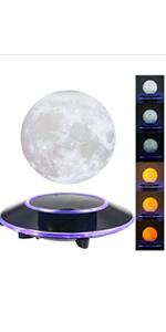 magnetic levitating moon lamp . floating moon lamp