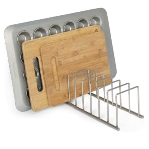 Proves very handy to store daily used kitchen ware and cookware items.