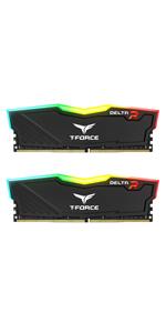 TEAMGROUP T-Force Delta RGB DDR4 16GB 2x8GB 3000MHz PC4-24000 CL16 Desktop Memory Module ram White