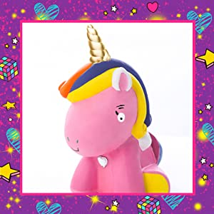 GirlZone Regalos para Niñas   Hucha Unicornio para Pintar   Kit Pintura para Niñas y Accesorios Infantiles  Pinceles, Colores y Gemas   Regalo ...