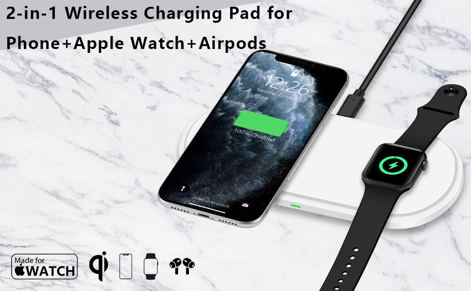 wireless phone stand wireless charging watch and phone charger wireless charger for iphone and watch