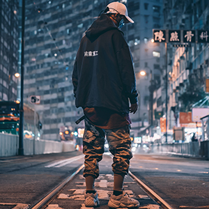 Aelfric Eden Mens Casual Streetwear Punk Street Harem