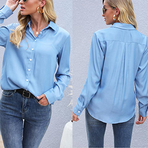 Long Sleeve Button Down Shirts Tops