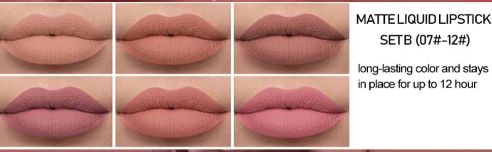 waterproof durable nude Lip Gloss lipstick for women halloween lip makeup gift kit