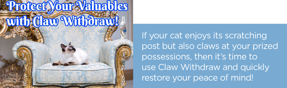 Claw Withdraw cat save possessions quick deterrent stop scratch