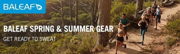 baleaf mens running hiking t-shirts long sleeve quick dry drifit cool workout shirts